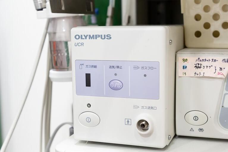 お腹の張りを抑える炭酸ガス送気システム