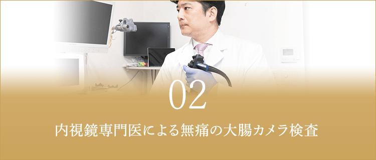 内視鏡専門医による無痛の大腸カメラ検査
